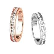 Romantic Titanium Steel Gypsophila Couple Rings