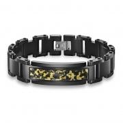 Stainless Steel Epoxy Camo Strap Bracelet