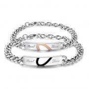 Titanium Steel Classic Love Couple Bracelet