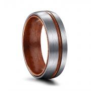 Wood Rings in Titanium