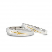Sunlight Couple Rings in Sterling Silver