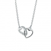 Fashion Heart to Heart S925 Sterling Silver Necklace