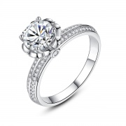 Sterling Silver Cz Promise Rings