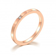 Titanium Steel Bands Rose Gold Plated
