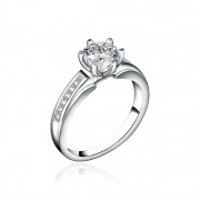 1 Carat 925 Sterling Silver Engagement Rings
