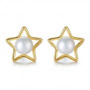 925 Sterling Silver Pearl Earrings Stud
