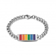 Simple Rainbow Bracelet in Titanium Steel