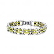 Titanium Steel Silicone Bracelet High Polished