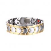 Titanium Steel Double Row Magnet Bracelet