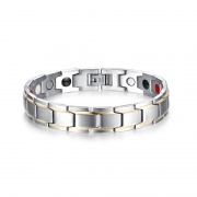 Black/ Silver Magnetic Bracelet in Titanium Steel
