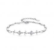 Four-Leaf Clover Bracelets in 925 Sterling Silver