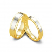Classic Titanium Steel Couple Rings