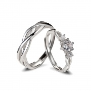 Infinity Sterling Silver Couple Rings