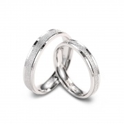 Matte Sterling Silver Couple Rings