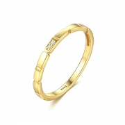 Gold Plated Sterling Silver Anniversary Bands
