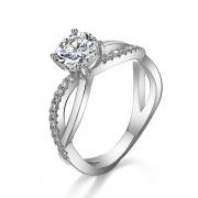 New 1 Karat Moissanite Engagement Rings 925 Sterling Silver