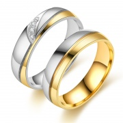 Titanium Steel Forever Love Double Couples Promise Rings