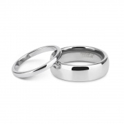 Silver Couple Rings in Tungsten
