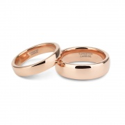 Rose Gold Couple Rings in Tungsten