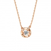 Rose Gold/Silver Dance Suspended Inlaid Necklace