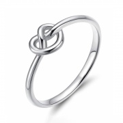 Simple Sterling Silver Rings Celtic Heart Knot
