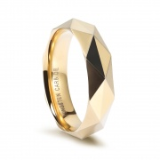 Gold/Rose Gold/Silver Faceted Tungsten Ring