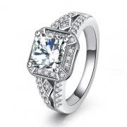 Princess Square Sona Diamond Rings