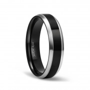 Black High Polished Rings in Titanium