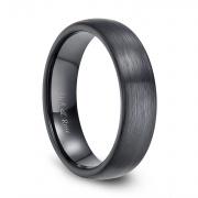 Black Brushed Plain Ceramic Rings