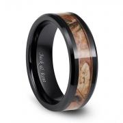 Black Camo Hunting Ceramic Rings