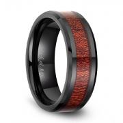 Mahogany Wood Rings in Ceramic
