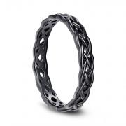 Black Celtic Knot Sterling Silver Rings
