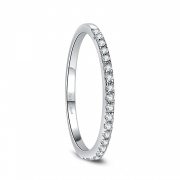 CZ Women Eternity Rings Sterling Silver