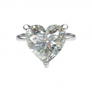 Sona Diamond Engagement Rings in Sterling Silver