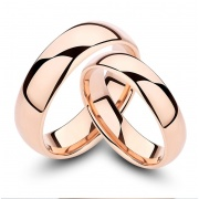 Rose Gold Tungsten Couple Rings