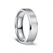 Brushed Matte Finish Titanium Engagement Rings