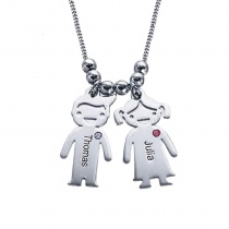 Engraved Name Boys And Girls Lovers Necklace