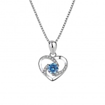 Heart Of Eternity Sterling Silver Pendant Necklace