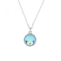 Sterling Silver Blue Crystal Dream Aurora Necklace/Y Chain