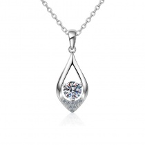 Three Claw Water Drop Sterling Silver Necklace