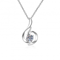 S925 Sterling Silver Swan Pendant Necklace