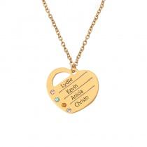 DIY Laser Lettering Customization Heart Necklace