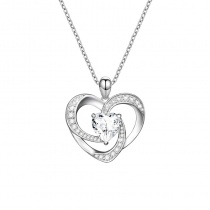 S925 Sterling Silver Creative Heart Whirlpool Necklace