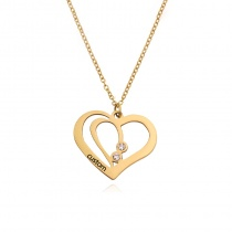 Creative Laser Lettering Heart-shaped Necklace