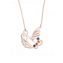 Angel Wing Couple Clavicle Personalized Necklace