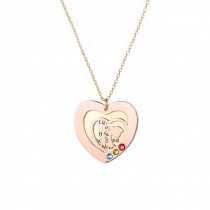 Double Layer Love Couple Personalized Necklace