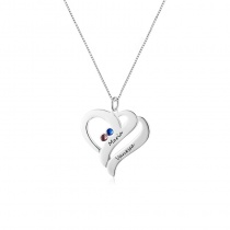 Heart Customized Birthstone Pendant Necklace