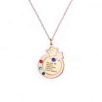 Star Inlaid Stone Clavicle Personalized Necklace