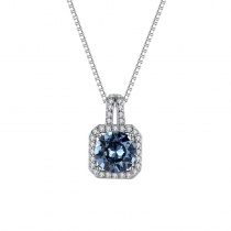Brilliant Heart S925 Sterling Silver Austrian Crystal Necklace