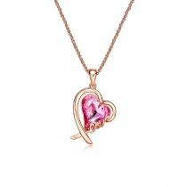 Love Heart Pendant Swarovski Crystal Necklace